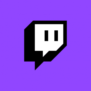 Twitch logo to play games in streaming